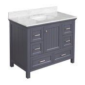 "Pagie 42"" Bathroom Vanity, Charcoal Gray"