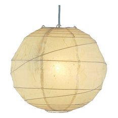 "Adesso 4162 Orb 1 Light 24"" Pendant, Natural"