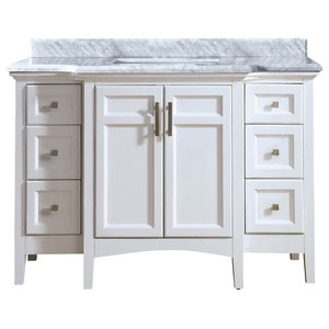 Luz Single Bathroom Vanity Set, White, 48""