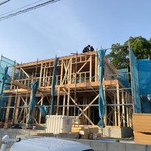 自然素材・全館空調の家 鈴鹿市江島台の家 上棟