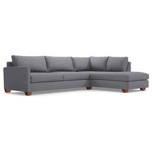 Tuxedo 2-Piece Sectional Sofa, Mountain Gray, Chaise on Right