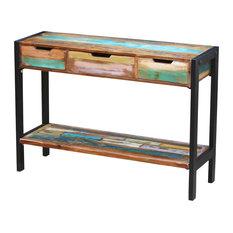vidaXL Solid Reclaimed Wood Sideboard, 3-Drawer
