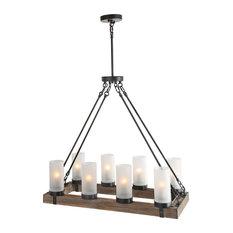 8-Light Kitchen Island Ceiling Pendant Lighting