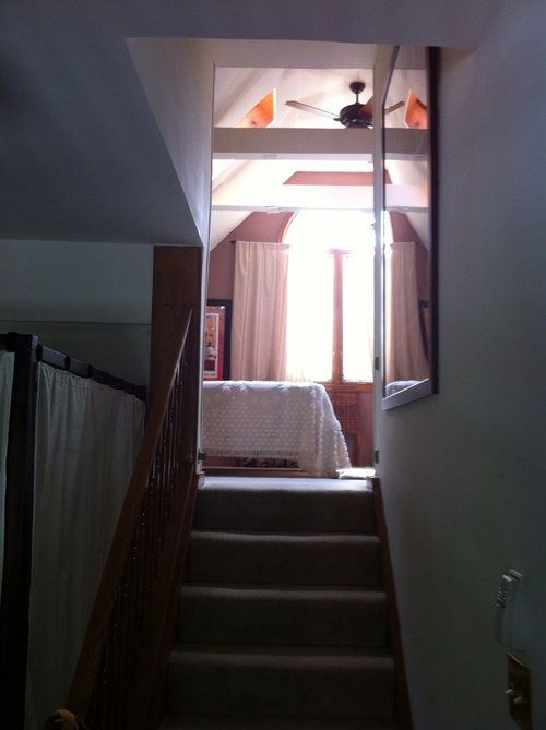 How To Close Off A Bedroom Doorway At The Top Of A Staircase