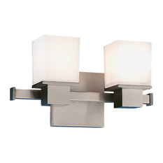 Hudson Valley Milford 2-Light Bath Bracket, Satin Nickel