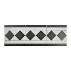 Narcissus Blanco Porcelain Floor and Wall Trim Tile, Listello