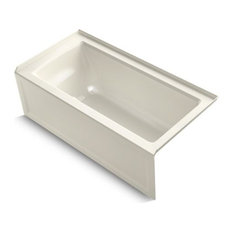 "Kohler Archer 60"" X 30"" Alcove Bath w/ Integral Apron, Right-Hand Drain, Biscuit"