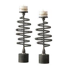 Uttermost Zigzag Candleholders, Set of 2