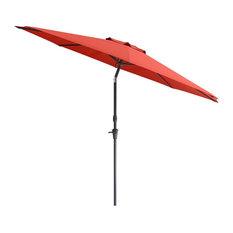Wind Resistant Tilting Patio Umbrella in Crimson Red