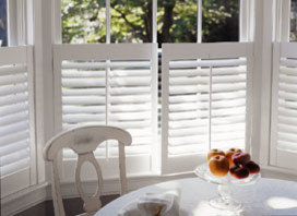 White Painted Finish w/ Painted Hinges - Window Treatments
