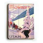 """Artehouse - """"Visit Mountain Skiers"""", Wall Decor By Posters Please, 12""""x16"""" - Artehouse wood signs add a touch of character to any room. Great for the cabin, beach house, winter chalet, kids room, game room, garage, kitchen or any room. Perfect as gifts to visitors or as a memento of places seen and loved. The sign comes ready to put on your wall with a saw tooth hanger. The sign is hand distressed to add to the vintage appeal. The image is printed directly unto the wood in a UV based archival quality ink to ensure fade resistance and last a lifetime."""