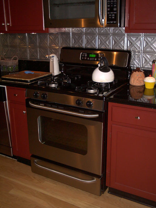tin backsplash kitchen backsplashes