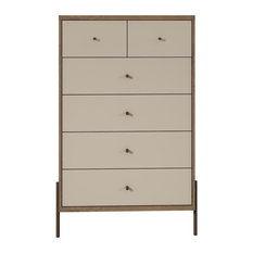 "Joy 48.43"" Tall Dresser With 6 Full Extension Drawers In Off White"