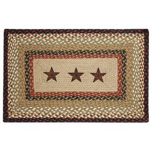Barn Stars Rectangle Patch Rug