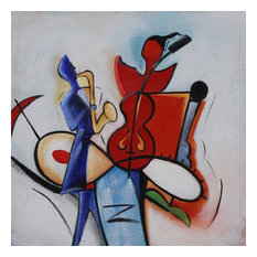 """Moosica"" Acrylic Painting, 80x80 cm"
