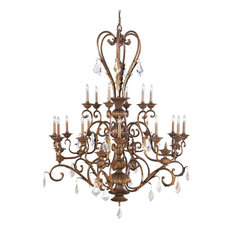 Kichler Lincoln Bronze and Crystal 18-Light Chandelier