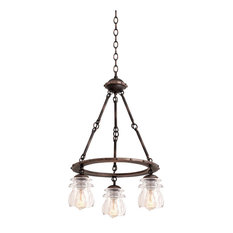 Kalco Brierfield 3-Light Chandelier in Antique Copper