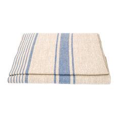 Linen Prewashed Provence Tablecloth, Blue, 136x320cm