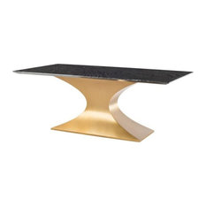 Ardah-dining-table-black-marble-top-brushed-stainless-steel-base