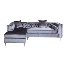 Da Vinci Sofa Gray Left Facing - Sectional Sofas  sc 1 st  Houzz : sectional sofa with nailhead trim - Sectionals, Sofas & Couches