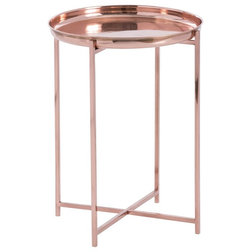 Inspirational Transitional Side Tables And End Tables Arteriors Malika Accent Table Bright Copper