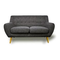 Scandinavian 2-Seater Sofa, Light Grey