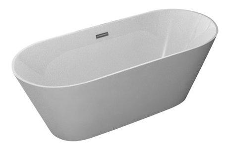 Kokss lugano freestanding modern seamless acrylic bathtub contemporary bathtubs by kitchen for Woodbridge 54 modern bathroom freestanding bathtub