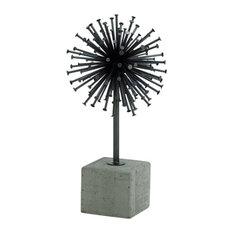 """Metal Concrete Sculpture 7""""x13"""""""