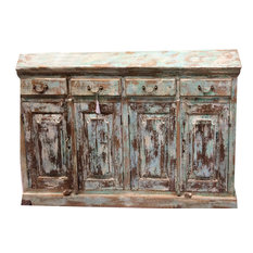 Mogul Interior - Consigned Antique Distressed Jaipur Sideboards Drawer Chest Dresser Storage - Buffets And Sideboards