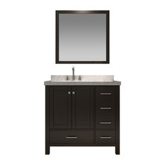 "ARIEL Cambridge A037S-L-ESP 37"" Single Sink Bathroom Vanity Set W/Left Offset Si"