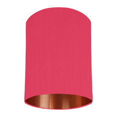 Cerise Pink Lampshade With a Copper Mirrored Lining, 15x20 cm