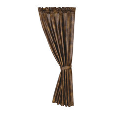 Brown Faux Leather Curtain