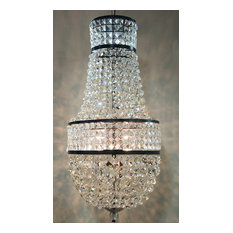 Noir Anna Chandelier In Black Metal LAMP457MTB