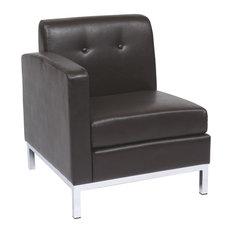 Avenue Six Wall Street Single Armed Chair, Espresso, Left Facing
