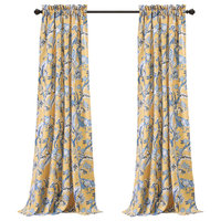 "Dolores Room Darkening-Wp-Yellow-Pair-52""x120""+2"