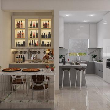 Ms. Anita Alexander | 4BHK Villa | Bar Unit | Bonito Designs | Bangalore