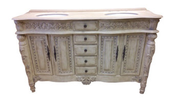 """B&I Direct Imports Victoria Double Sink Vanity, 61"""""""