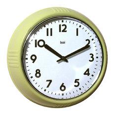 "9.5"" School Wall Clock Chartreuse"