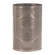 Waste Basket, Blackened Tin
