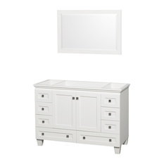 "48"" Acclaim Single Bathroom Vanity, White, No Countertop, No Sink"
