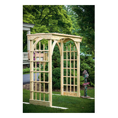 Pressure Treated Pine 3'x6' Martha's Garden Decorative Arbor