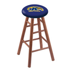 Oak Counter Stool Medium Finish With Kent State Seat 24-inch
