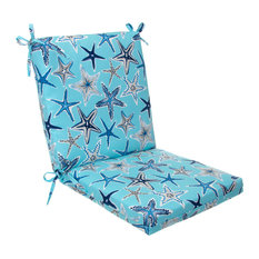 Indoor/Outdoor Square Chair Cushion, Reach For The Stars, Blue