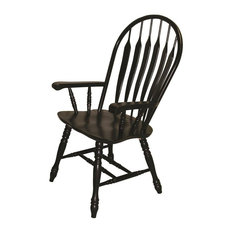 Arm Chair in Antique Black Finish