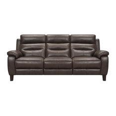 """Hayward 82"""" Espresso Genuine Leather Power Reclining Sofa"""