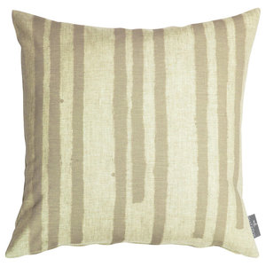 "PaperBoy Interiors ""Stripes"" Cushion, Stone and Brown"