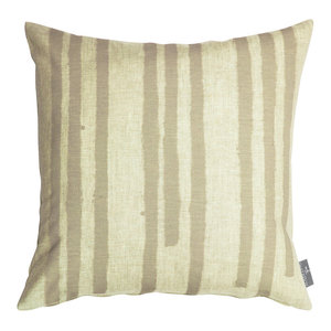 """PaperBoy Interiors """"Stripes"""" Cushion, Stone and Brown"""