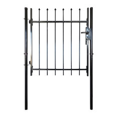 Single Door Fence Gate With Spear Top, 100x100 cm
