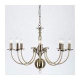 Bruges 8 Light Antique Brass Flemish Chandelier
