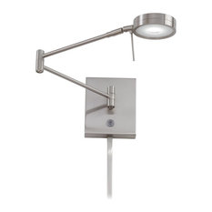 George Kovacs P4308-084 Brushed Nickel Puck LED Swing Arm Wall Sconce
